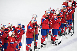 Players of Norway look dejected after the 2017 IIHF Men's World Championship group B Ice hockey match between National Teams of Czech Republic and Norway, on May 11, 2017 in AccorHotels Arena in Paris, France. Photo by Vid Ponikvar / Sportida