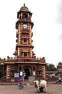 Ghanta Ghar Jodhpur Clocktower was built by Shri Sardar Singh of Jodhpur.  One of the icon landmarks of Jodhpur, it is adjacent to Sadar Market, a popular shopping area for Rajasthani textiles.
