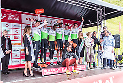 12.07.2019, Kitzbühel, AUT, Ö-Tour, Österreich Radrundfahrt, 6. Etappe, von Kitzbühel nach Kitzbüheler Horn (116,7 km), im Bild bestes Team Team Dimension Data // during 6th stage from Kitzbühel to Kitzbüheler Horn (116,7 km) of the 2019 Tour of Austria. Kitzbühel, Austria on 2019/07/12. EXPA Pictures © 2019, PhotoCredit: EXPA/ JFK