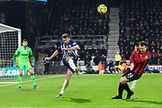 Dale Stephens (6) of Brighton and Hove Albion clears the ball as Arnaut Danjuma (14) of AFC Bournemouth closes in during the Premier League match between Bournemouth and Brighton and Hove Albion at the Vitality Stadium, Bournemouth, England on 21 January 2020.