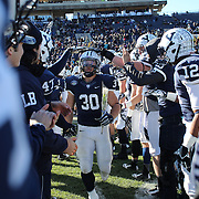 Yale running back Tyler Varga during the seniors presentation of players making their final appearance before the Yale Vs Princeton, Ivy League College Football match at Yale Bowl, New Haven, Connecticut, USA. 15th November 2014. Photo Tim Clayton