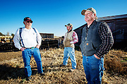 Dan Gebauer Sr, Cristopher Gebauer and his father Dan Gebauer Jr on their farm in Akron. The Gebauers joined sixty percent of the residents in Washington County who voted to secede from Colorado State, as they were unhappy with both the state administration and federal over-reach.