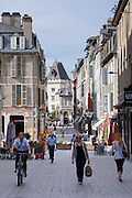 Locals strolling in the streets of Pau, France