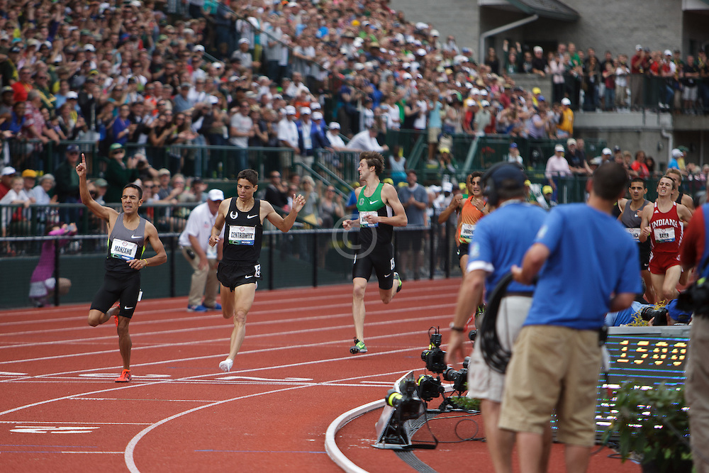 Olympic Trials Eugene 2012: men's 1500 meter final, finish, Leonel Manzano