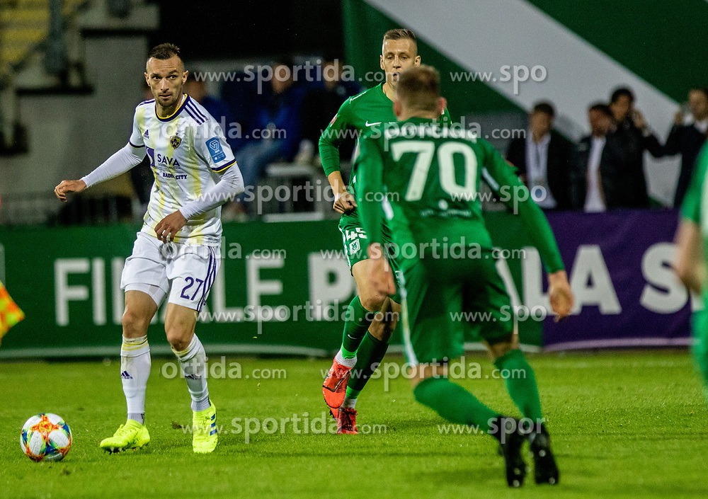Jasmin Meanovic of NK Maribor vs Putincanin Marko of NK Olimpija Ljubljana during a football game between NK Olimpija Ljubljana and NK Maribor in Final Round (18/19)  of Pokal Slovenije 2018/19, on 30th of May, 2014 in Arena Z'dezele, Ljubljana, Slovenia. Photo by Matic Ritonja / Sportida