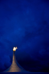 Paralympic Flame and Buildings at the 2014 Sochi Winter Paralympic Games, Russia
