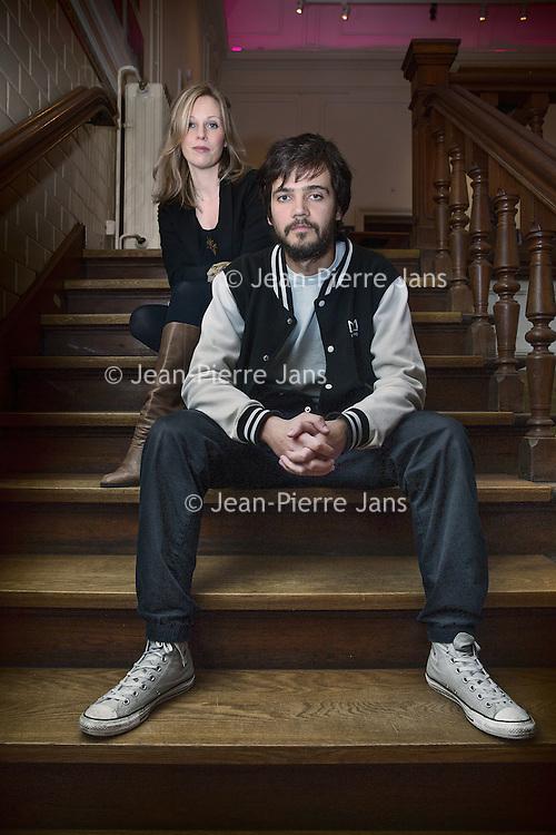 Nederland, Amsterdam, 28 januari 2016.<br /> Anna van der Heide, regisseur en acteur Vanja Rukavina.<br /> <br /> <br /> <br /> Foto: Jean-Pierre Jans