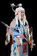 John Bevis,Warm Springs Pow Wow,Oregon,USA.(Model release 0104)