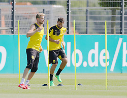 30.06.2015, Trainingsanlage, Dortmund, GER, 1. FBL, Borussia Dortmund, Trainingsauftakt, im Bild v.l. Oliver Kirch (Dortmund) und Gonzalo Castro (Dortmund) bei Laufuebungen // during a traning session of German 1st Bundeliga Club Borussia Dortmund at Trainingsanlage Borussia Dortmund in Dortmund, Germany on 2015/06/30. EXPA Pictures © 2015, PhotoCredit: EXPA/ Eibner-Pressefoto/ Hommes<br /> <br /> *****ATTENTION - OUT of GER*****