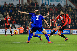 Charlie Daniels of Bournemouth shot is blocked - Mandatory by-line: Jason Brown/JMP - 13/12/2016 - FOOTBALL - Vitality Stadium - London, England - AFC Bournemouth v Leicester City - Premier League