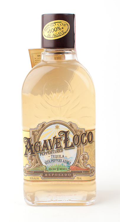 Agave Loco Pepper Cured Tequila reposado -- Image originally appeared in the Tequila Matchmaker: http://tequilamatchmaker.com