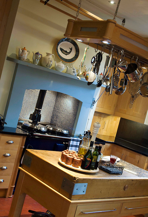 Farmhouse Kitchen with blue Aga cooker