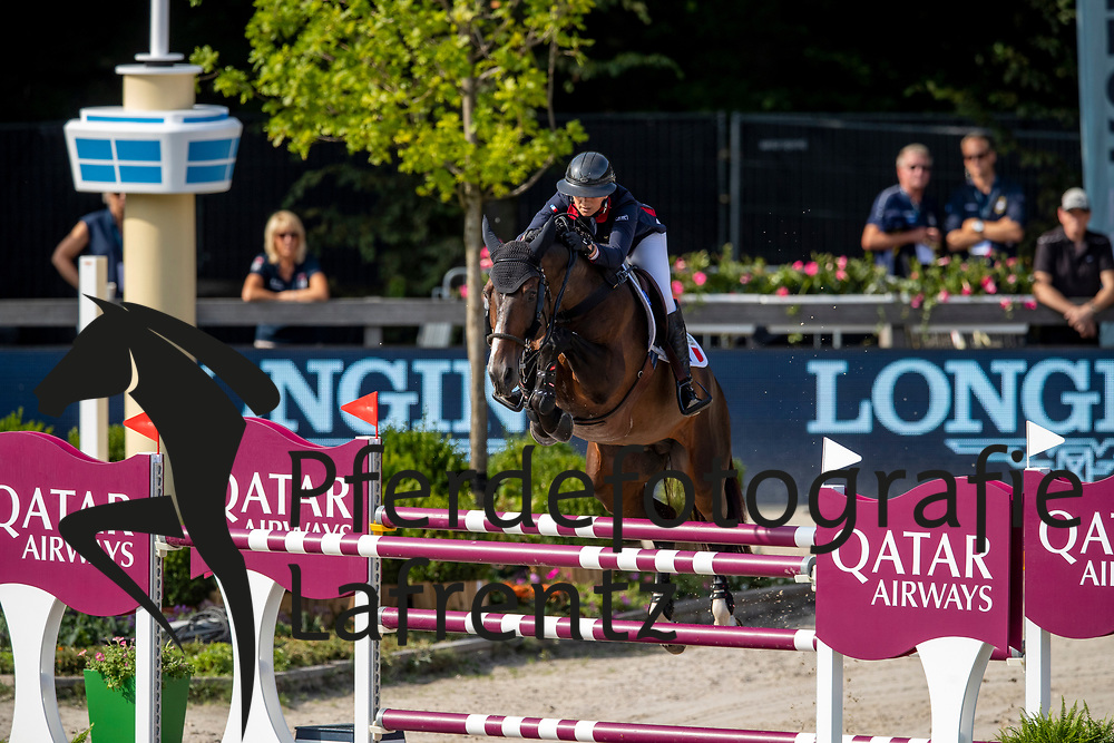 LEPREVOST Penelope (FRA), VANCOUVER DE LANLORE<br /> Rotterdam - Europameisterschaft Dressur, Springen und Para-Dressur 2019<br /> Longines FEI Jumping European Championship - 1st part - speed competition against the clock<br /> 1. Runde Zeitspringen<br /> 21. August 2019<br /> © www.sportfotos-lafrentz.de/Stefan Lafrentz