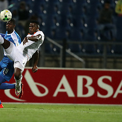 Tshepo Tema of Polokwane City with a over head kick during the 2016 Premier Soccer League match between Maritzburg Utd and Polokwane City held at the Harry Gwala Stadium in Pietermaritzburg, South Africa on the 27th September 2016<br /> <br /> Photo by:   Steve Haag / Real Time Images