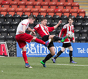 Argyle captain Kev' Egan - Dundee Argyle v Dykehead AFC in the Scottish Sunday Trophy semi final at Excelsior Stadium, Airdrie, Photo: David Young<br /> <br />  - &copy; David Young - www.davidyoungphoto.co.uk - email: davidyoungphoto@gmail.com