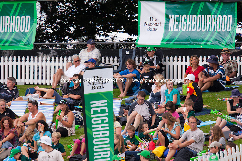 The National Bank Neighbourhood zone during the 5th ODI, Black Caps v Pakistan, One Day International Cricket at Seddon Park, Hamilton, New Zealand. Thursday 3 February 2011. Photo: Stephen Barker/PHOTOSPORT