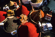 Tiznit, the last Morocco's city before the Western Sahara desert. The weekly market, spices.