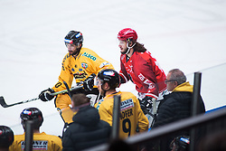 PARADIS Philippe during Alps Hockey League match between HC Pustertal and HDD SIJ Jesenice, on April 3, 2019 in Ice Arena Podmezakla, Jesenice, Slovenia. Photo by Peter Podobnik / Sportida