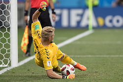 July 1, 2018 - Nizhny Novgorod, Russia - Kasper Schmeichel of Denmark during the 2018 FIFA World Cup Russia Round of 16 match between Croatia and Denmark at Nizhny Novgorod Stadium on July 1, 2018 in Nizhny Novgorod, Russia. (Credit Image: © Foto Olimpik/NurPhoto via ZUMA Press)