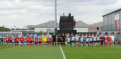 Bristol Academy Women and Manchester City Women line-up before their WSL fixture at Stoke Gifford Stadium - Photo mandatory by-line: Paul Knight/JMP - Mobile: 07966 386802 - 18/07/2015 - SPORT - Football - Bristol - Stoke Gifford Stadium - Bristol Academy Women v Manchester City Women - FA Women's Super League