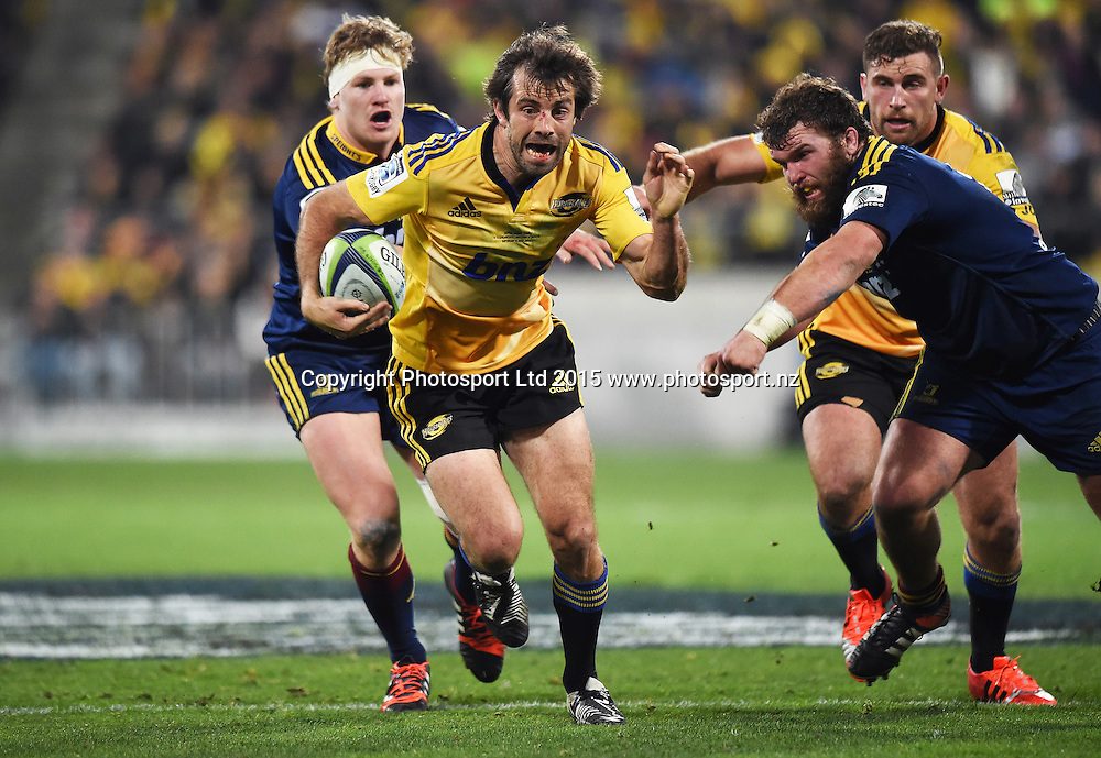 Conrad Smith during the Super Rugby Final between the Hurricanes and Highlanders at Westpac Stadium in Wellington., New Zealand. Saturday 4 July 2015. Copyright Photo: Andrew Cornaga / www.Photosport.nz