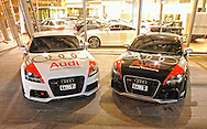Matt & Casey Close's & Maher Algadri & Toni Feaver's 2010 Targa Tasmania Entry's 2010 Audi TTRS Coupe's in Ibis White & Phantom Black.Shot on location at Audi Centre Melbourne.Melbourne CBD, Victoria.14th of April 2010.(C) Joel Strickland Photographics.Use information: This image is intended for Editorial use only (e.g. news or commentary, print or electronic). Any commercial or promotional use requires additional clearance.
