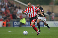 Photo: Pete Lorence.<br />Lincoln City v Milton Keynes Dons. Coca Cola League 2. 16/09/2006.<br />Lincoln's Jamie Forrester in action.