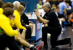 Head coach of Celje Zvonimir Serdarusic during the handball match between RK Celje Pivovarna Lasko (SLO) and TWH Kiel (GER) in 4th Round of Velux EHF Men's Champions League, on October 17, 2010 in Arena Zlatorog, Celje, Slovenia.  (Photo By Vid Ponikvar / Sportida.com)