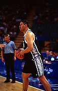 Peter Pokai during the Men's basketball match between the New Zealand Tall Blacks and France at the Olympics in Sydney, Australia on 17 September, 2000. Photo: PHOTOSPORT<br /><br /><br /><br /><br />170900 *** Local Caption ***