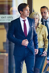 Danish Ryder Cup golfer Thorbjorn Olesen leaves Isleworth Crown Court in West London where he faces allegations of sexual assault and being drunk on an aircraft. London, September 18 2019.