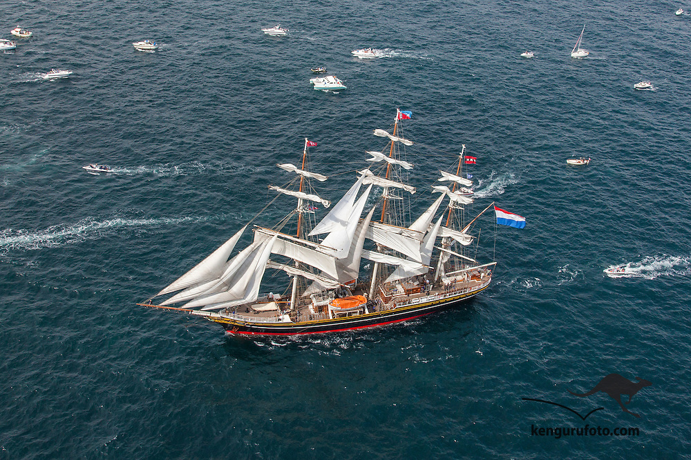 The Tall Ship races 2010 in Kristiansand. Parade of sails last day with the ships leaving Norway for this time.