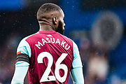 West Ham  (26) Arthur Masuaku during the Premier League match between Chelsea and West Ham United at Stamford Bridge, London, England on 8 April 2018. Picture by Sebastian Frej.