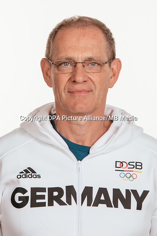 Ulrich Knapp poses at a photocall during the preparations for the Olympic Games in Rio at the Emmich Cambrai Barracks in Hanover, Germany, taken on 15/07/16 | usage worldwide