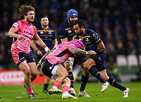 Rugby Union - 2017 / 2018 European Rugby Champions Cup - Pool Three: Leinster vs. Exeter Chiefs<br /> <br /> Leinster's Isa Nacewa in action against Exeter's Jack Nowell, at Aviva Stadium, Dublin.<br /> <br /> COLORSPORT/KEN SUTTON