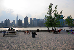 USA NEW YORK JUN10 - Skyline view of midtown Manhattan from Water Taxi Beach, New York...jre/Photo by Jiri Rezac..© Jiri Rezac 2010