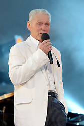 Image ©Licensed to i-Images Picture Agency. 05/07/2014. Oxford, United Kingdom. Cornbury Festival. Georgie Fame performs at the Cornbury Festival. Picture by  i-Images