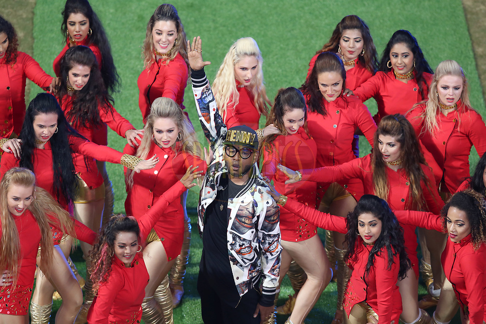 Benny Dayal performing at the opening ceremony during match 5 of the Vivo 2017 Indian Premier League between the Royal Challengers Bangalore and the Delhi Daredevils held at the M.Chinnaswamy Stadium in Bangalore, India on the 8th April 2017<br /> <br /> Photo by Faheem Hussain - IPL - Sportzpics