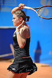22.05.2014, Tennisanlage 1.FC Nuernberg, GER, WTA Tour, Nuernberger Versicherungscup, Viertelvinale, im Bild Vorhand Close up Karin Knapp (ITA) // during the quarterfinals of Nuernberg WTA tournament at the 1.FC Nuernberg tennis facility in Nuernberg, Germany on 2014/05/22. EXPA Pictures © 2014, PhotoCredit: EXPA/ Eibner-Pressefoto/ Schreyer<br /> <br /> *****ATTENTION - OUT of GER*****