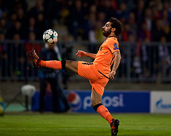 MARIBOR, SLOVENIA - Tuesday, October 17, 2017: Liverpool's Mohamed Salah during the UEFA Champions League Group E match between NK Maribor and Liverpool at the Stadion Ljudski vrt. (Pic by David Rawcliffe/Propaganda)