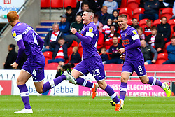 Jake Hastie of Rotherham United celebrates his goal - Mandatory by-line: Ryan Crockett/JMP - 07/09/2019 - FOOTBALL - The Keepmoat Stadium - Doncaster, England - Doncaster Rovers v Rotherham United - Sky Bet League One