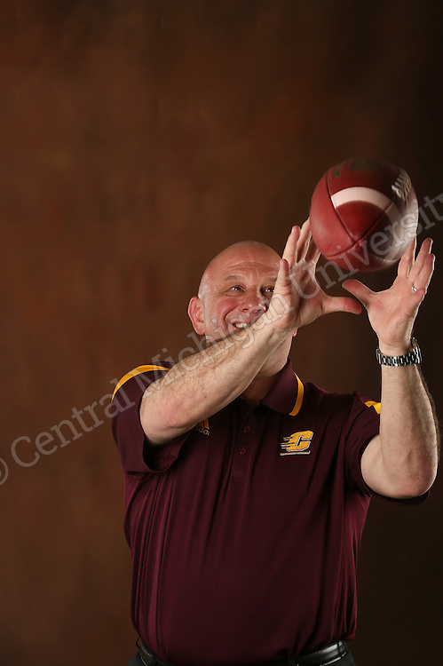 Coach John Bonamego, new football coach comes to CMU from the Detroit Lions. Photo by Steve Jessmore/Central Michigan University