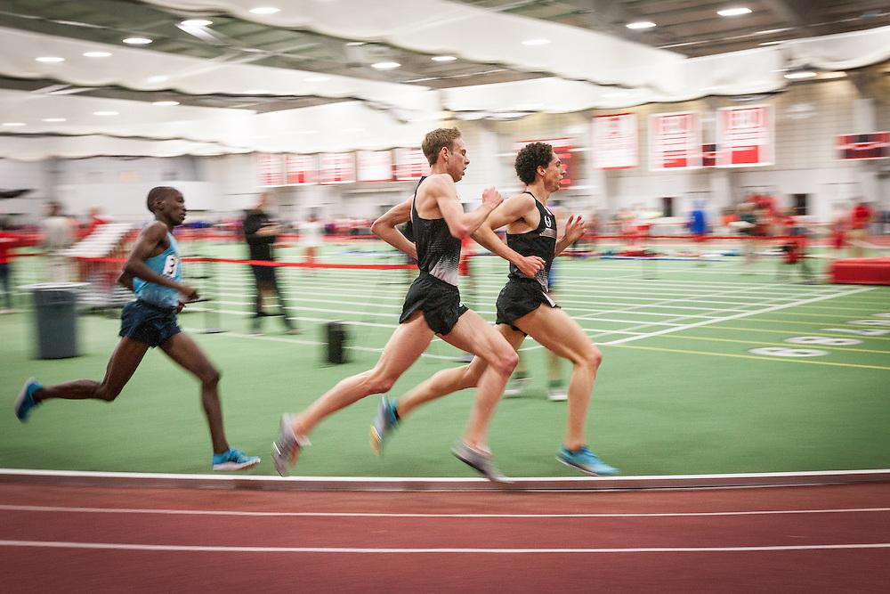 Boston University Multi-team indoor track & field meet, Levins, Rupp 5000m