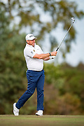 Lee Westwood  of England in action during the British Masters 2018 at Walton Heath Golf Course, Walton On the Hill, Surrey on 12 October 2018. Picture by Martin Cole.