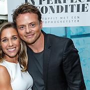 NLD/Amsterdam/20150907 - Boekresentatie 'In perfecte conditie' van Ellen Hoog met partner Kelvin de Lang