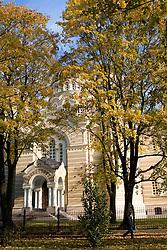 Autumn trees in a park, Riga, Latvia