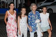 08042019 Spanish Royals leaves Ola de Mar after dinner