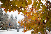 November snow at Gonzaga. (Photo by Gonzaga University.)