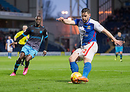 Craig Conway of Blackburn Rovers crosses during the Sky Bet Championship match at Ewood Park, Blackburn<br /> Picture by Russell Hart/Focus Images Ltd 07791 688 420<br /> 28/11/2015