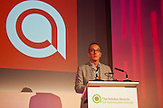 Kevin McCloud, presenter of Channel 4's Grand Designs speaking at the 2011 Ashden Awards ceremony