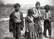 Spanish peasant children, 1940s